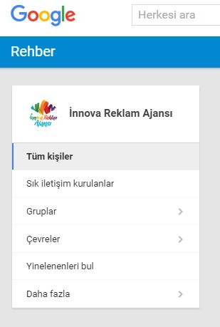 google-rehber-google-kişiler